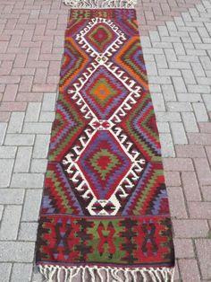 "Anatolia Turkish Aydin Kilim Runner 28 3"" x 102 7"" Area Rug Kelim Carpet | eBay"