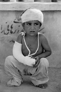 A child who is surrounded and impacted by war and bombs all around. We need love in the world again.