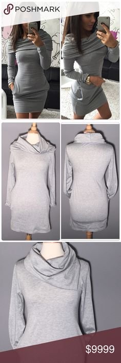 Stylish Long Sleeve Mini Dress Stylish Long Sleeve Mini Dress. Very Unique Style, Sexy and elegant. Have Pockets on the side. Material: Polyester, Cotton Blend. Style: Stretch, Bodycon.  🎉 Host Pick on March 23🎉                                                                                                     ✅Price is firm unless bundle                                                                                                                             ❌NO TRADES. ❌NO LOWBALL…