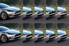LA GAZETTE AUTOMOBILE: Photo du Jour : des calandres pour la Tesla Model 3