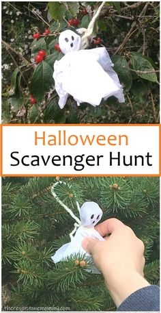 Go on a Ghost Hunt! simple kids activity Go on a candy ghost hunt! The post Go on a Ghost Hunt! appeared first on Halloween Party. Halloween Camping, Halloween Tags, Diy Halloween Party, Halloween Games For Kids, Kids Party Games, Holidays Halloween, Halloween Themes, Toddler Halloween Crafts, Halloween Costumes