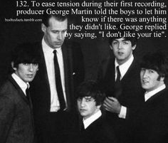 The Beatles: George Harrison, Ringo Starr, John Lennon, Paul McCartney, and Sir George Martin. Beatles Funny, Beatles Love, Beatles Photos, Beatles Trivia, George Martin Beatles, Liverpool, The Quarrymen, Billy Preston, Richard Starkey