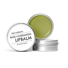 Basil Cardamom Lip Balm from KESTREL. A naturally delicious, nourishing + deeply moisturizing lip treatment. Handmade in Denver, CO