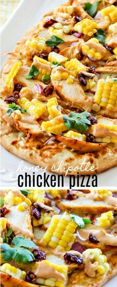 This delicious homemade honey chipotle chicken pizza is perfect for using leftover baked chipotle chicken, or just because you want a gourmet pizza to share with friends. #VivaLaMorena,#RediscoverLaMorena #ad