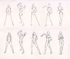 sketches | Sketches 28 - Woman standing practice by Azizla on deviantART