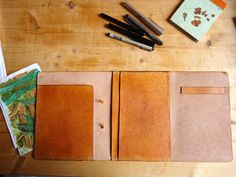 Leather Travel Notebook Sketchbook or Journal by BroLeatherWorks