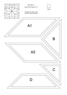 Printable English Paper Piecing Templates | piecing print this page twice template for epp print this page once