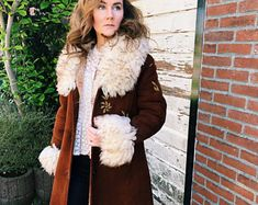 Vintage 70s Authentic Afghan Coat with golden embroidery