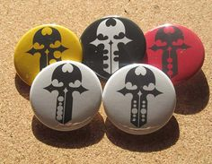The World ends with you Key pins TWEWY 5 pins set by cherriesama, $5.50