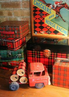 Plaid tin collection