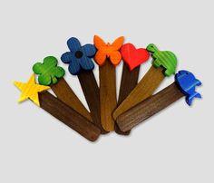 Segnalibri in legno fatti a mano di dimensione cm. 15x3