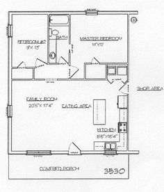 Cabin floor plans by kimloudin on pinterest barndominium for 30x40 barndominium floor plans