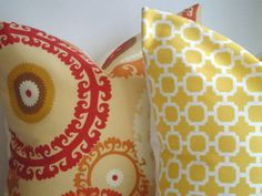 SET Of TWO Coordinating 18x18 Designer by simplydivinebyjoann, $44.00
