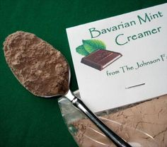 Bavarian Mint Coffee Creamer With Non Dairy Coffee Creamer, Dutch-processed Cocoa Powder, Confectioners Sugar, Peppermint Extract Non Dairy Coffee Creamer, Homemade Coffee Creamer, Coffee Creamer Recipe, Mint Coffee, Diy Food Gifts, Edible Gifts, Christmas Party Food, Christmas Gifts, Christmas Morning