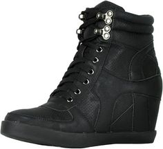 Looking for Refresh Footwear Women's High Top Hidden Wedge Fashion Sneaker ? Check out our picks for the Refresh Footwear Women's High Top Hidden Wedge Fashion Sneaker from the popular stores - all in one. High Top Wedge Sneakers, Wedge Shoes, Womens Fashion Sneakers, Fashion Shoes, Fashion 2017, Fashion Trends, Pastry Shoes, Hip Hop Shoes, Glitter Shoes