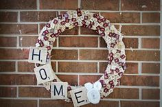 Scrabble wreath. I love the golf tee idea.