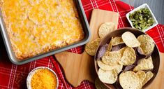 Texas Trash Dip ...  Makes 8 cups or 64 (2-tablespoon) servings    ... ... ... ... ...      1 package (8 ounces) cream cheese,  1 cup sour cream,  2 cans (16 ounces each) refried beans,  1 can (4 1/2 ounces) chopped green chiles drained,  1 package McCormick® Taco Seasoning Mix, 4 cups shredded Mexican cheese blend, divided