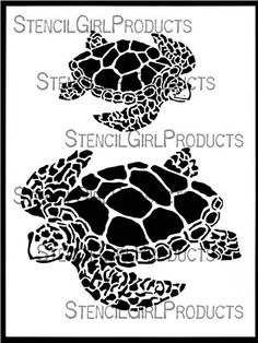 Majestic Sea Turtles Stencil by June Pfaff Daley  for StencilGirl Products $14.00