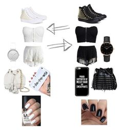 """""""Black and White"""" by taco-lambert on Polyvore featuring Converse, Chicwish, NLY Trend, Rebecca Minkoff, Skagen, STELLA McCARTNEY, Topshop and Casetify"""