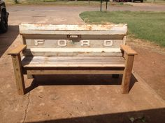 1973 ford tailgate bench