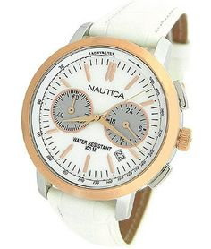 Nautica Chronograph Mother-of-pearl Dial Women's watch #N19579M: Watches: Amazon.com