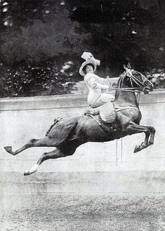 ~ While Madame is Corseted, and sitting Side Saddled, sporting a Fabulous Hat, while riding a Jumping Thoroughbred naturally.... it's those mad-capped Victorians ~