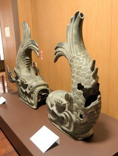 A pair of old shachihoko of Nagoya-Castle, Aichi, Japan.