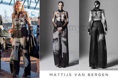 Queen Maxima wears Mattijs van Bergen Meeusen Hypnose shirt & Meeusen Smoke trouser www.newmyroyals.com