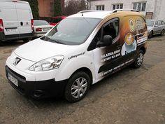 Oklejanie samochodów dostawczych Peugeot Partner