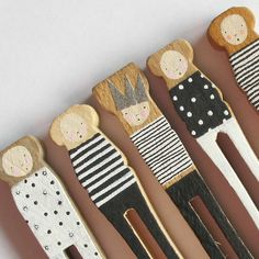 Hand painted pegs by Porter Colline