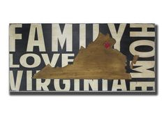 State Wall Decor  You Pick Your State  Where We Love is Home painted wooden sign by barnowlprimitives