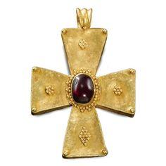 Byzantine, 5th-7th century. Pendant cross
