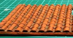 Roofing?: How to Make a Clay or Terracotta Tile Roof using corrugated board