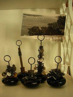 old doorknob photo stand