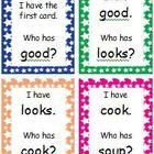 I Have, Who Has game cards designed to practice words with vowel digraphs /oo/ and /oo/ spelled with oo, ou, ew, ue, and u_e.Words Included:  goo...