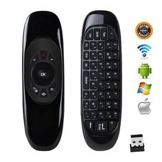 Wireless Air Mouse Keyboard Game Remote Controller For Macbook PC iPad Projector Smart TV Box Worldwide delivery. Original best quality product for of it's real price. Hurry up, buying it is extra profitable, because we have good production sources. Computer Technology, Pc Computer, Android Computer, Android Box, Smart Tv, Macbook, Ipad Bag, Pc Mouse, Smartphone
