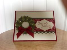 Stampin Up Christmas card - Christmas wreath Etsy.