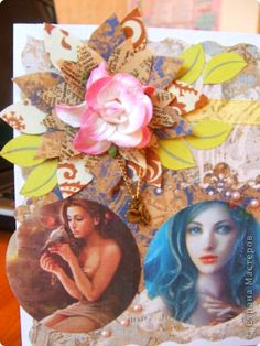 Paper flower tutorial for cards - scrapbooking @hand made free