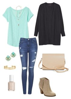 """""""Untitled #488"""" by kmysoccer on Polyvore featuring Violeta by Mango, Banana Republic, Topshop, Panacea, Kate Spade, Stella & Dot, Liliana, Cesca and Essie"""