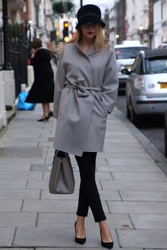 Shades of Grey Winter Gray Coats, Sweaters, Dresses & Skirts Warm & Cozy Outfits 2015-2016 (4)