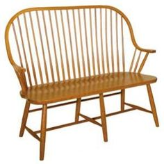 Mennonite Furniture Studios, Amish Contemporary New England Windsor Bench Outdoor Chairs, Outdoor Furniture, Outdoor Decor, Windsor Bench, Amish Furniture, New England, Craftsman, Hardwood