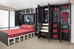 Valet Custom Cabinets and Closets - I love wall beds!