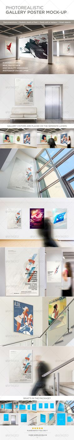 Photorealistic Gallery Poster Mock-Up by Genetic96, $9 on Graphic River