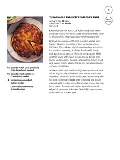 Yukon Gold and Sweet Potatoes Anna in Martha Stewart Living December 2013.