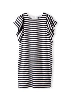 Country Road Stripe Ruffle Sleeve Dress ($199)