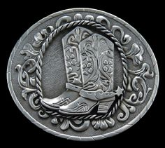 Western Cowboy Cowgirl Boot Belt Buckle Cowboys Cowgirls Old Westerns Boots Belts & Buckles