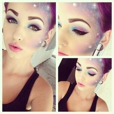 i see make up like this and love it but think where would anyone wear this?