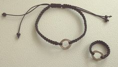 Macrame, bracelet, ring,