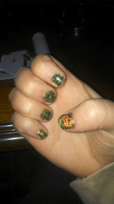 Camo fox racing nails