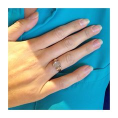 A customer who found her gorgeous moonstone ring accessory. Find your ring at Isadoras.com.